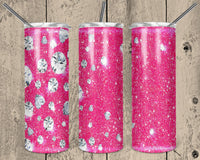 Diamonds Straight or Tapered 20 oz Skinny Tumbler Sublimation Transfer  NNT034