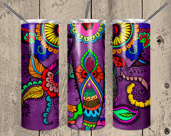 Abstract Pattern Straight or Tapered 20 oz Skinny Tumbler Sublimation Transfer  NNT041