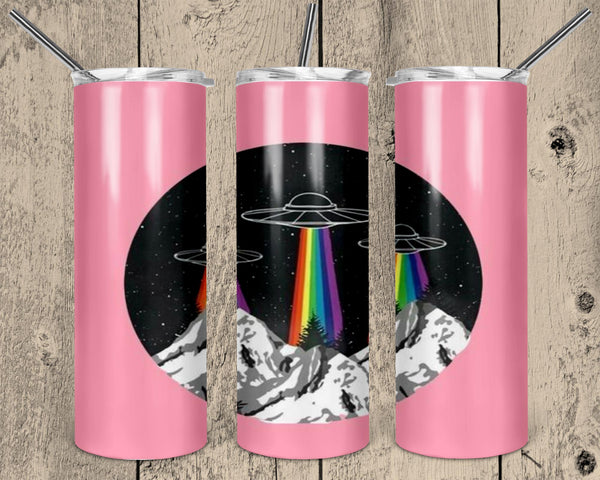 UFO Straight or Tapered 20 oz Skinny Tumbler Sublimation Transfer  NNT047