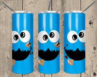 Cookie Monster 20 oz Double Walled Insulated Tumbler. NNt119