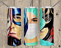 Superhero Woman Straight or Tapered 20 oz Skinny Tumbler Sublimation Transfer  NNT223