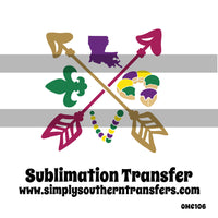 Mardi Gras Sublimation Transfer OMC106