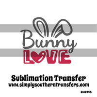 Bunny Love Sublimation Transfer OMC145