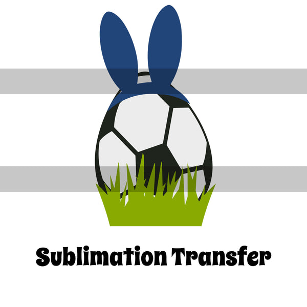 Soccer Easter Egg Sublimation Transfer OSG168