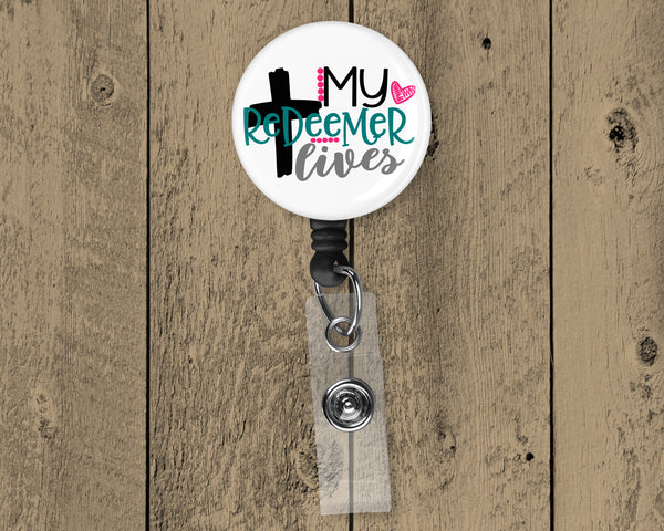 My Redeemer Lives Retractable Badge Reel  OSG294BR