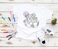 Pirate Ship Coloring Page Screenprint Transfer K2