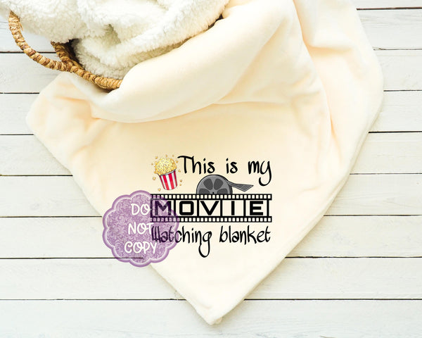 Movie Watching Blanket Sublimation Transfer     RBD012
