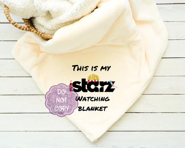 Starz Watching Blanket Sublimation Transfer     RBD015