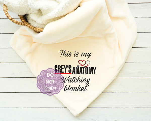 Grey's Anatomy Watching Blanket Sublimation Transfer     RBD017