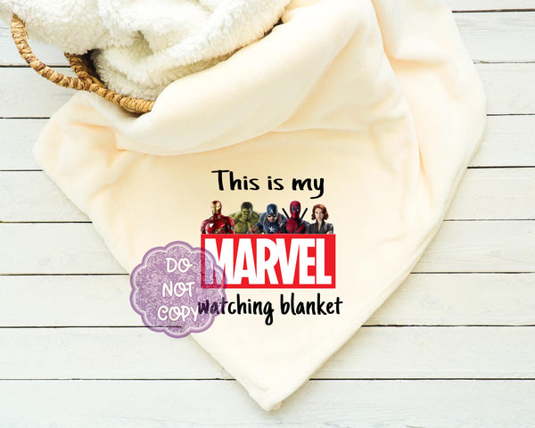 Marvel Watching Blanket Sublimation Transfer     RBD018