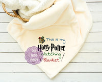 Harry Potter Watching Blanket Sublimation Transfer     RBD031