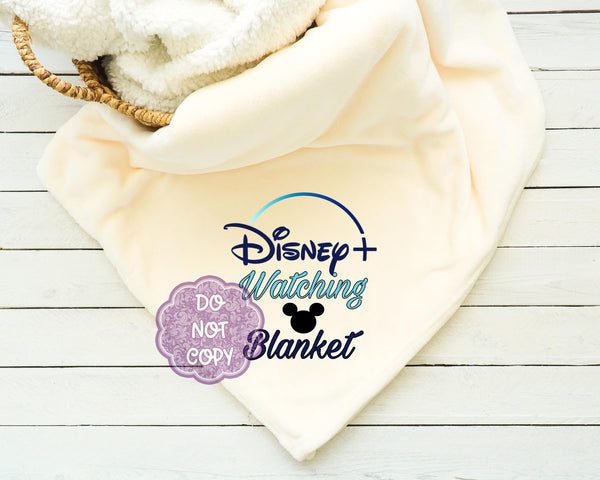 Disney + Watching Blanket Sublimation Transfer     RBD040