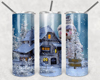 Christmas Scene 20 oz Double Walled Insulated Tumbler SK001