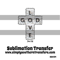 John 3:16 Sublimation Transfer SSA134