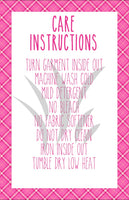 Pretty in Pink Tee Shirt Care Card     STICK012