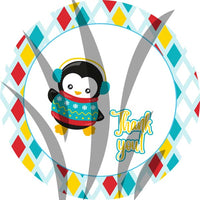 Christmas Penguins Stickers   STICK013