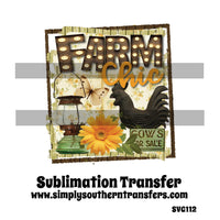 Farm Chic Sublimation Transfer SVG112