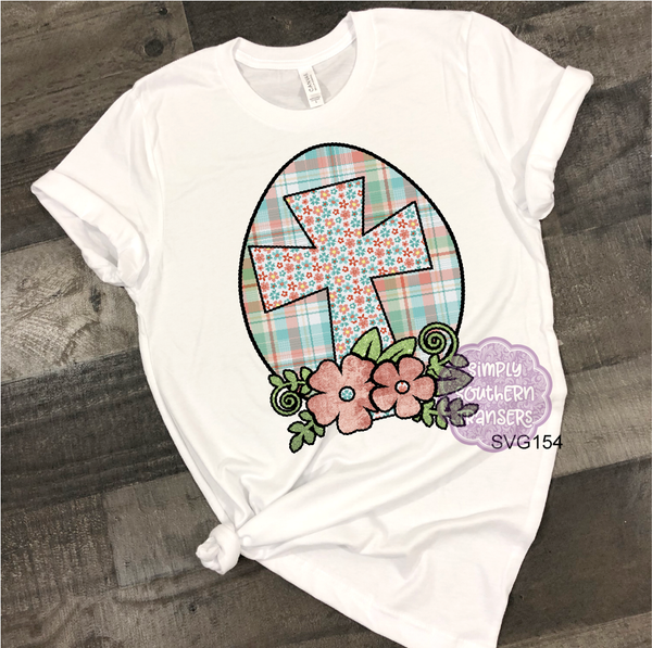 Easter Egg and Cross Sublimation Transfer SVG154