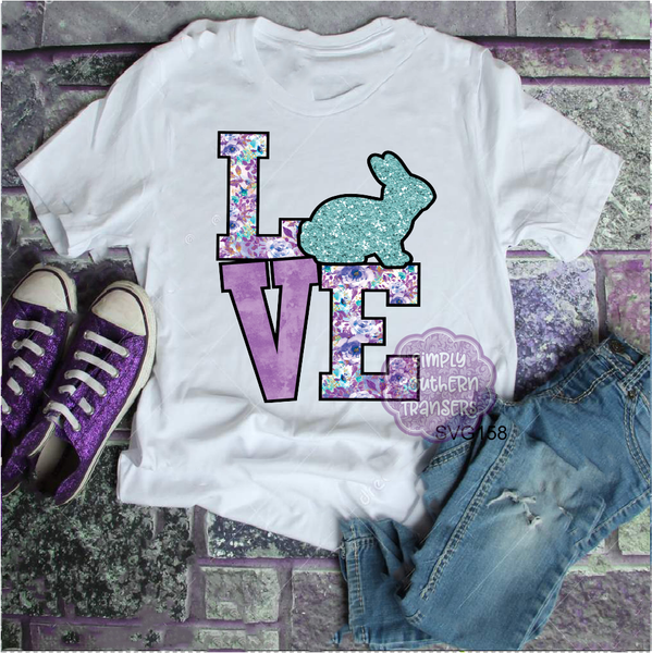 Bunny Love Sublimation Transfer SVG158