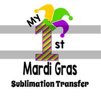 1st Mardi Gras Sublimation Transfer SVGS014