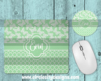 Sage Green Mousepad and Coaster Sublimation Template