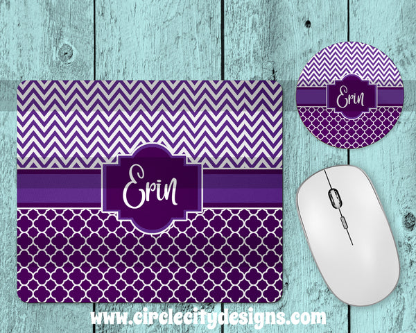 Purple Mousepad and Coaster Sublimation Template