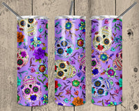 Sugar Skulls 20 oz Double Walled Insulated Tumbler