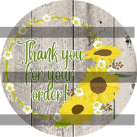 Sunflower Thank You Stickers Set 1