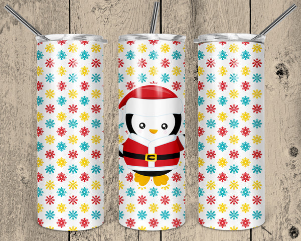Christmas Penguin 20 oz Skinny Tumbler Design