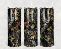 Camo Straight or Tapered 20 oz Skinny Tumbler Sublimation Transfer TWM001
