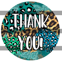 "2"" Thank You Sticker   Shabby Chic"