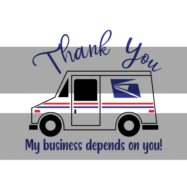 "Thank You My Business Depends on You 2"" Round Sticker"