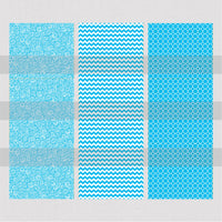 Turquoise Patterns Waterslide Decal or Printed Vinyl for Pen Wraps