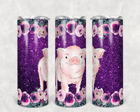 Purple Pig 20 oz Double Walled Insulated Tumbler