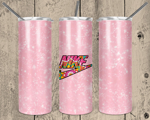 Pink Nike Swish 20 oz Double Walled Insulated Tumbler. NNT008