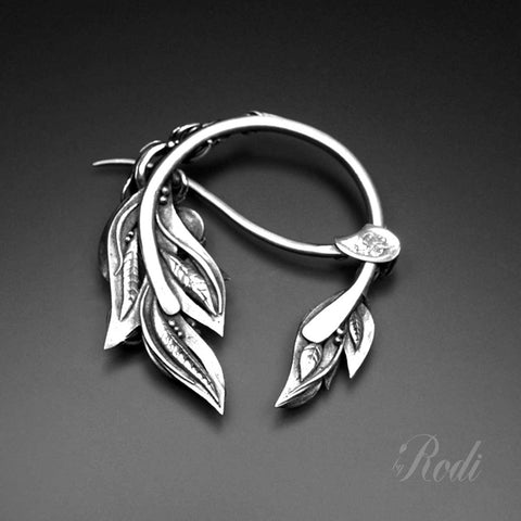 Beloved – Custom Made Silver Penannular Brooch-Brooch-Sky And Beyond Jewelry By Rodi