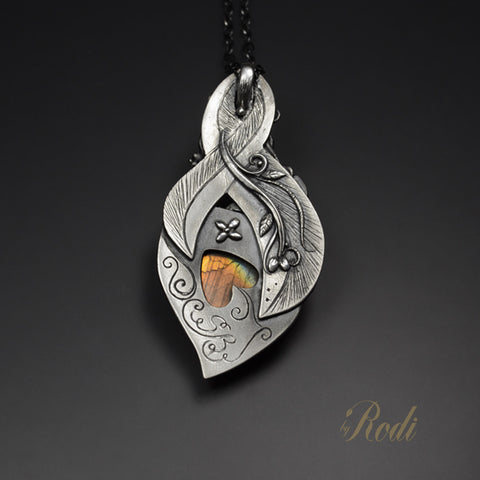Endless Forest - Fine Silver Pendant With Labradorite-Pendant-Sky And Beyond Jewelry By Rodi