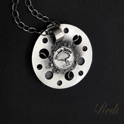 Forever - Fine Silver Mandala Pendant With Labradorite-Pendant-Sky And Beyond Jewelry By Rodi