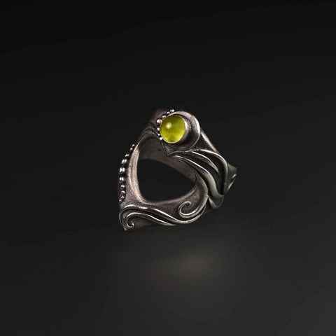 My Limitless Heart - Sterling Silver Ring With Peridot-Ring-Sky And Beyond Jewelry By Rodi