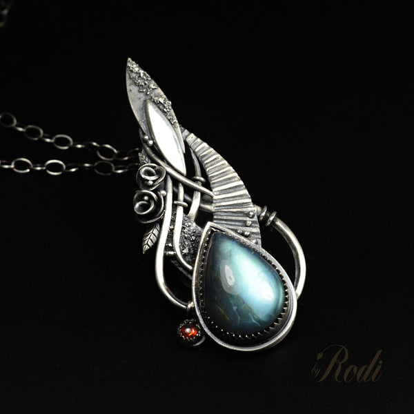 Path Of Wisdom – Custom Made Silver Pendant-Pendant-Sky And Beyond Jewelry By Rodi