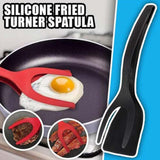 2-In-1 Grip and Flip Tongs Egg Spatula Tongs Clamp Pancake Fried Egg French Toast Omelet