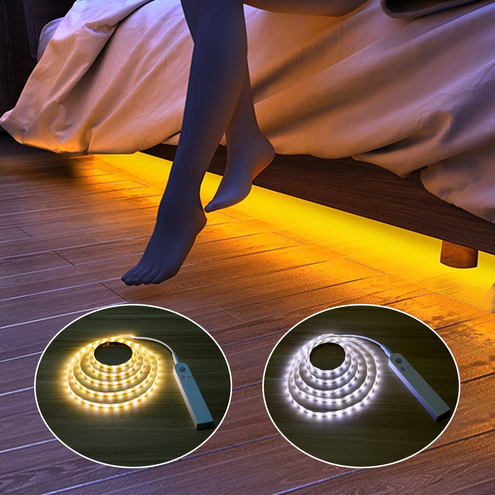 Motion Sensor LED Lights For Kitchen Under Cabinet Bedside Stairs Wardrobe
