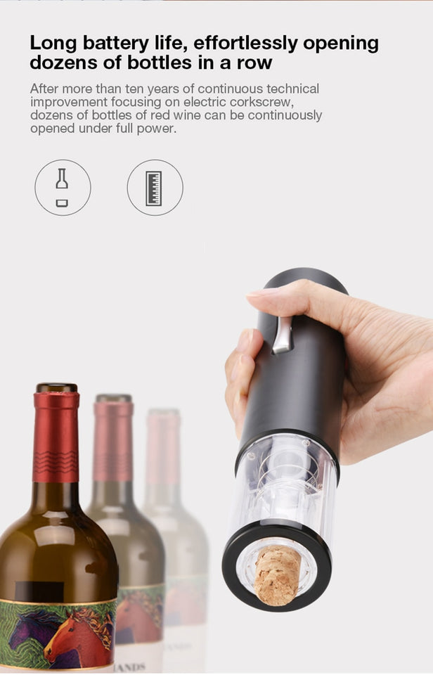 Electric Red Wine Opener Foil Cutter Bottle Jar Opener