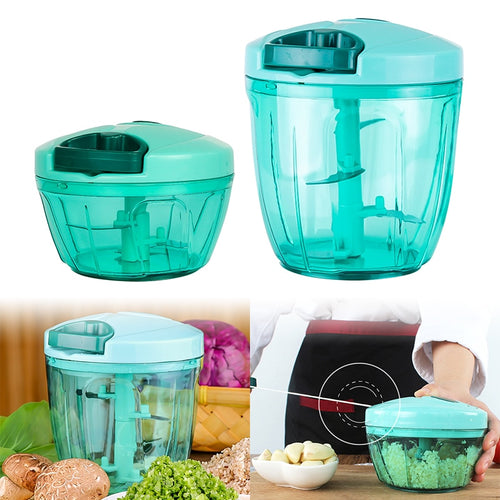 Manual Fruit Vegetable Chopper Hand Pull Food Cutter Onion Nuts Grinder Mincer Shredder