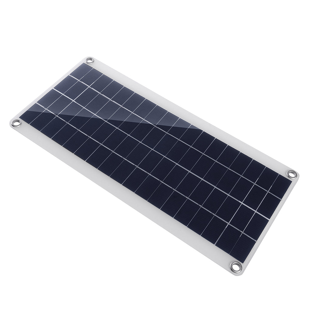 20W Portable Solar Panel Kit DC USB Charging Double USB Port Suction Cups Camping Traveling