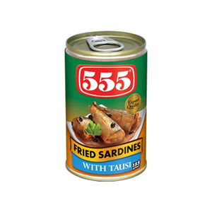 555 FRIED SARDINES WITH TAUSI 155GM - ANA Grocer by ANA Investment Pvt Ltd