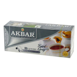 AKBAR BLACK TEA BAGS EARL GREY 25 X 2GM - ANA Grocer by ANA Investment Pvt Ltd