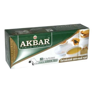 AKBAR CHINESE GREEN TEA BAGS 25 X 1.5GM - ANA Grocer by ANA Investment Pvt Ltd