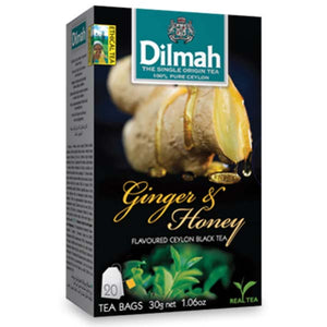 DILMAH TBAG GINGER & HONEY 20 BAGS - ANA Grocer by ANA Investment Pvt Ltd