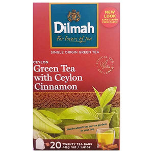 DILMAH TEA BAG CEYLON GREEN TEA-WITH CINNAMON 20 BAGS - ANA Grocer by ANA Investment Pvt Ltd